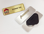 Nametag with Lock Pin