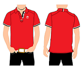 ERA Men Red Lycra Polo Tee