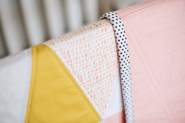 gorgeous handmade baby quilts with a modern touch