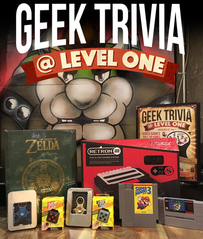 Level One Geek Trivia June 2017 Prize