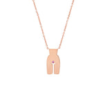 Smione Rose Gold with Pink Sapphire Ideal Woman