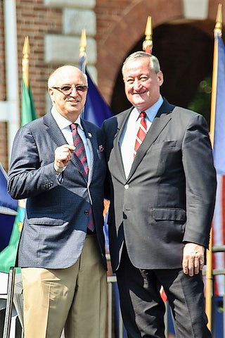 Galati was honored by Philadelphia Mayor Jim Kenney (right) with the prestigious Magis Award in recognition of his work to assist veterans in the Philadelphia area. (photo/courtesy Ralph Galati)