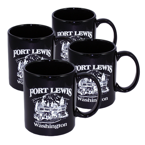 Fort Lewis Mug - Set of 4