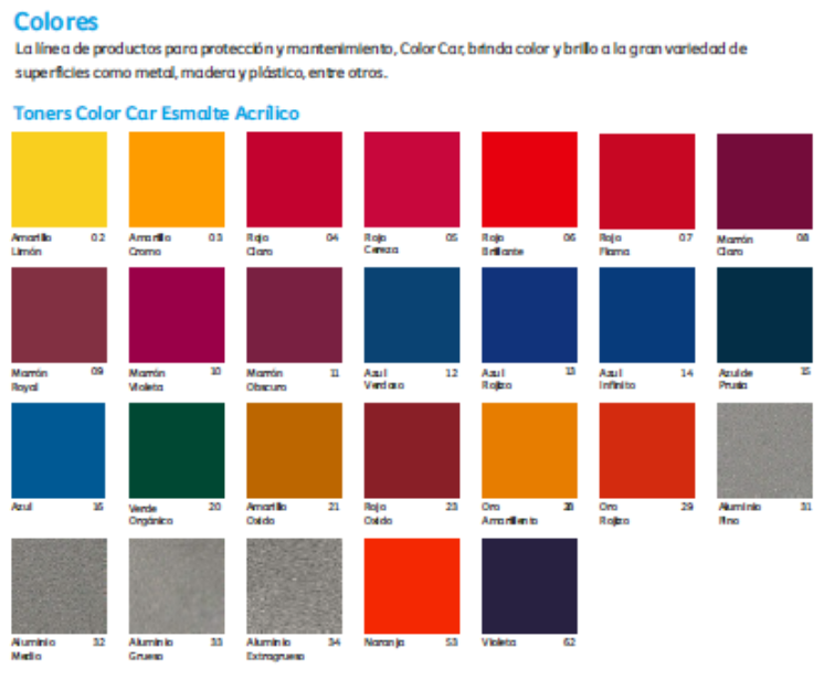 Catalogo de colores comex pdf for Catalogo colores pintura pared