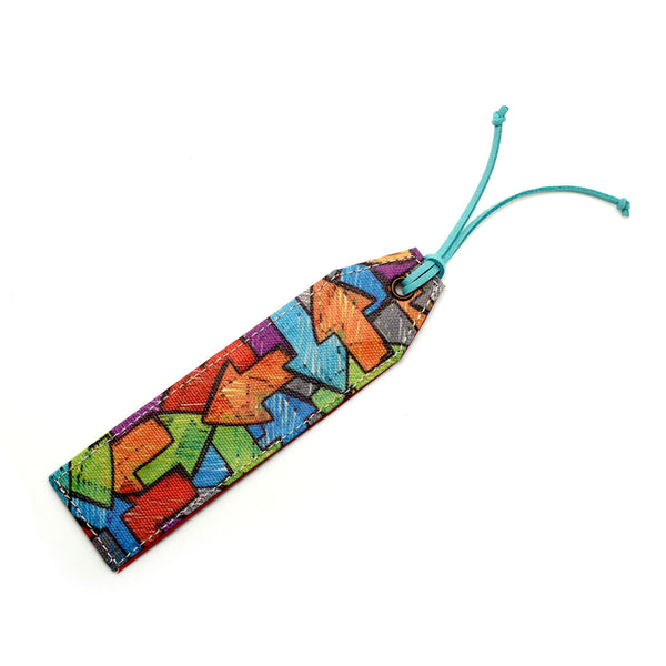 Colorful Arrows Canvas Bookmark
