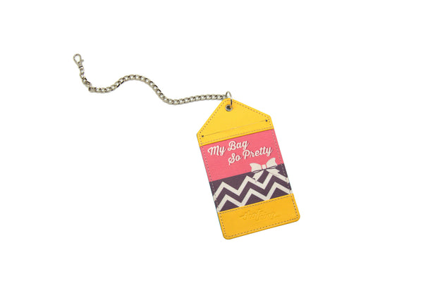 Yellow Pink Luggage Tag Bag Tag My Bag So Pretty Thathing_Chain Open