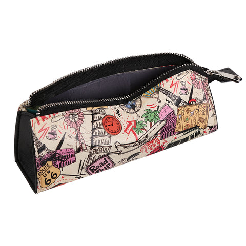 Bucket List Doodle Multi-Purpose Triangle Pouch