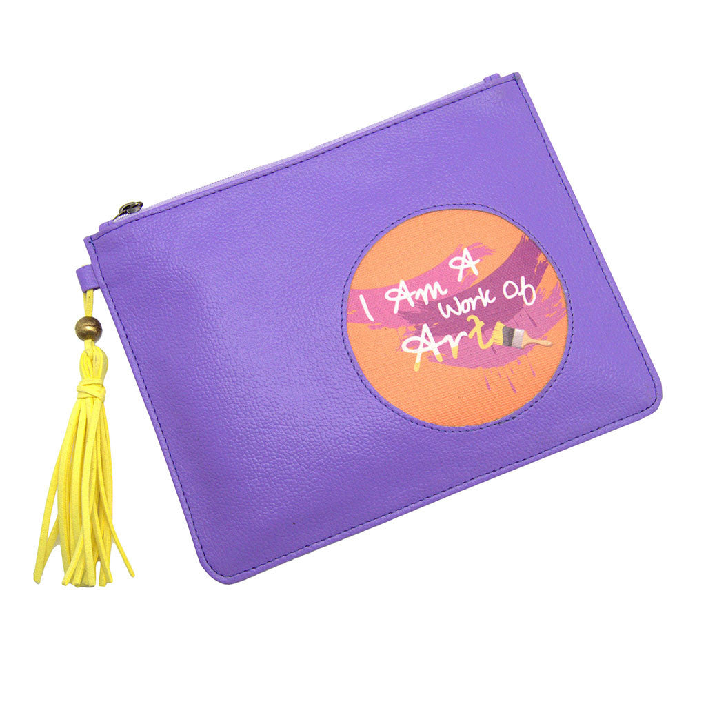 Purple Utility Pouch Work Of Art Thathing_Main