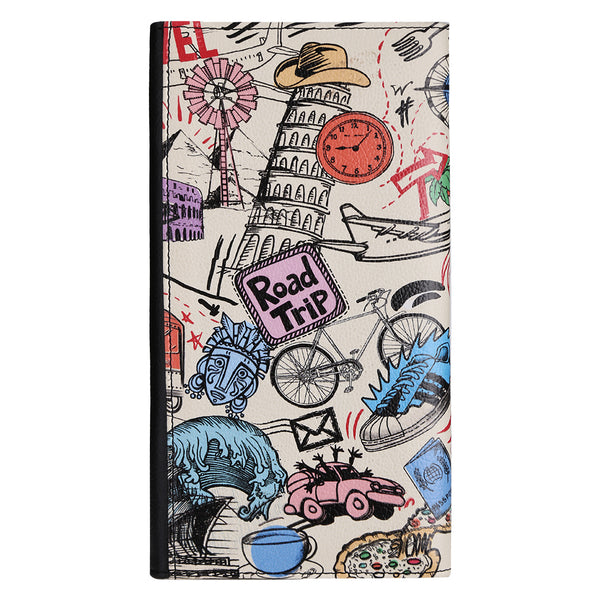 Bucket List Doodle Big Passport Wallet