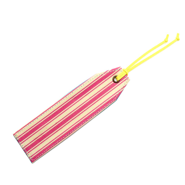Pink Stripes Canvas Bookmark