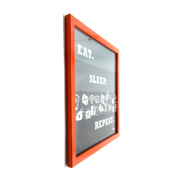 Eat Sleep Repeat Canvas Frame