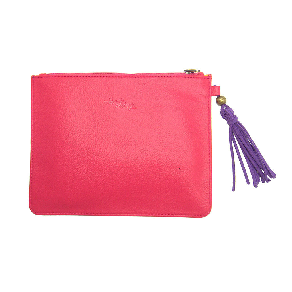 Pink Utility Pouch Make Up Your Face Thathing_Back