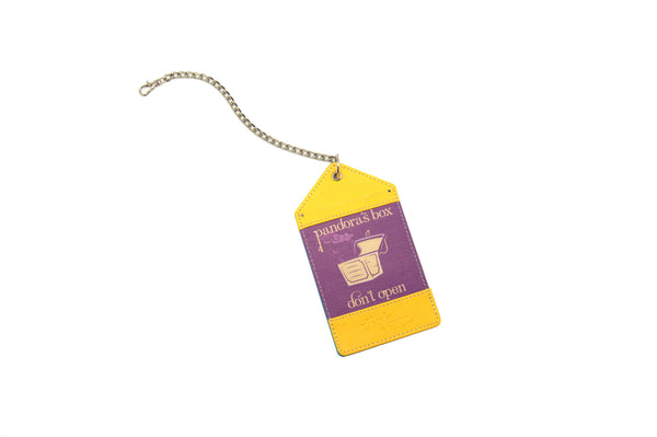 Yellow Violet Luggage Tag Bag Tag Pandora's Box Thathing_Chain Open