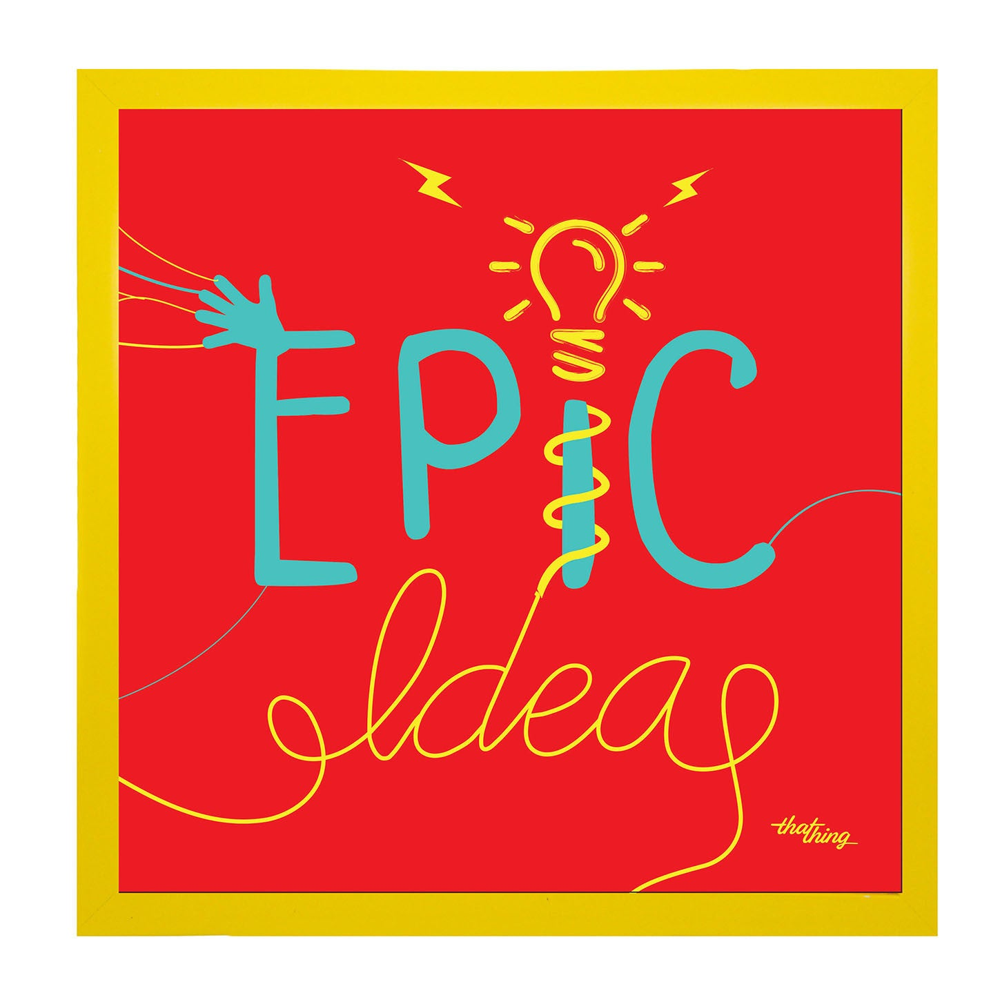 Epic Ideas Red Canvas Frame