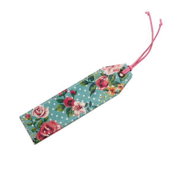Dots & Flowers Canvas Bookmark