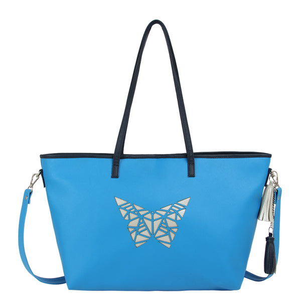 Blue Butterfly Handbag