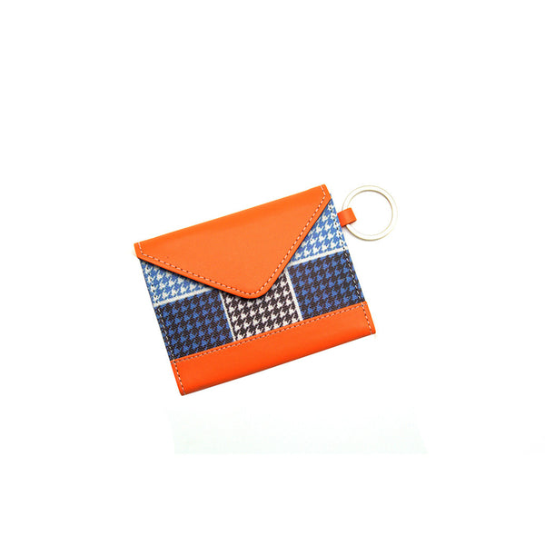 Card Holder Blue Checkered Thathing_Main
