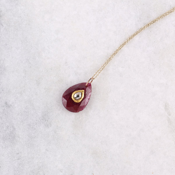 Natural Ruby Pendant