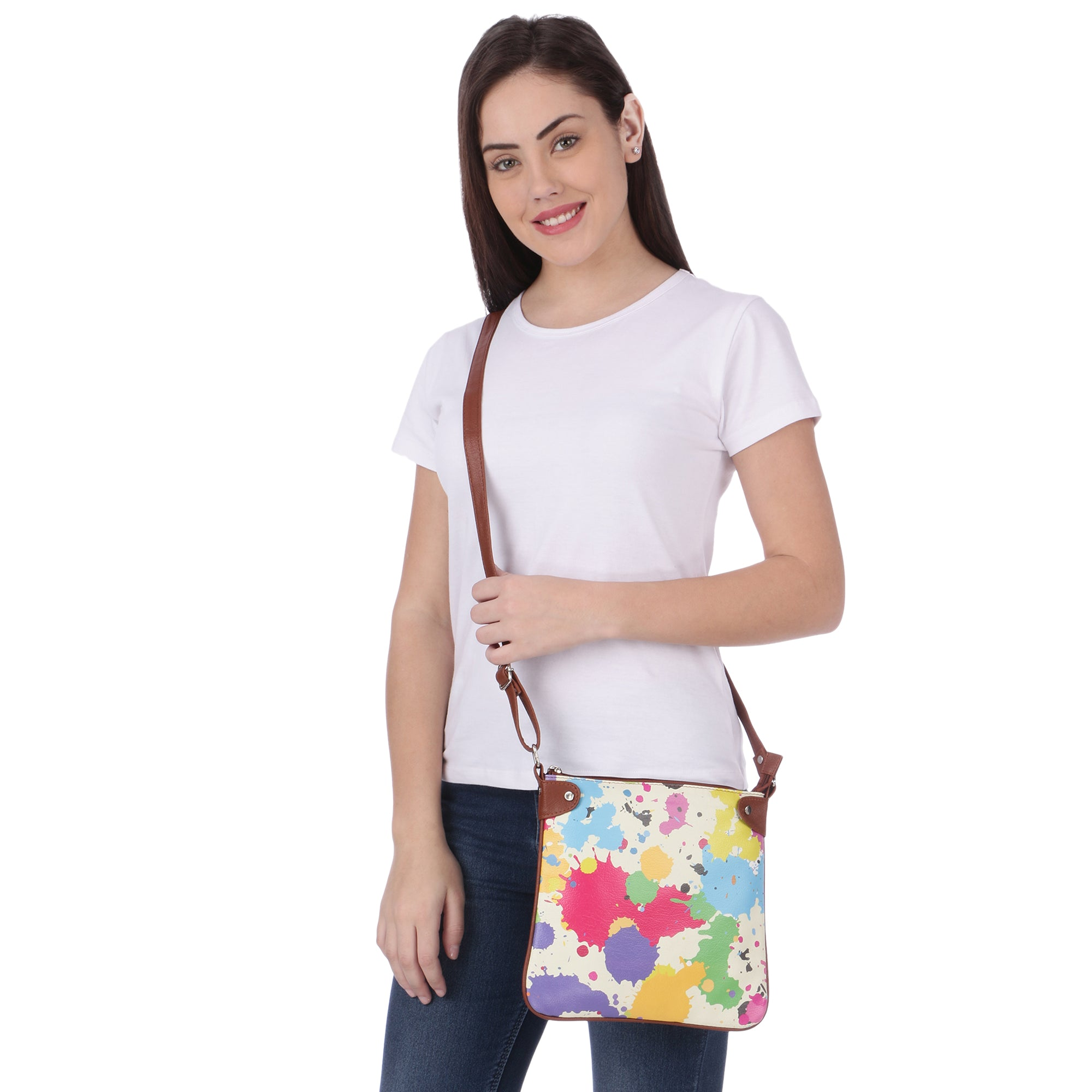 Paint Splash Sling Bag
