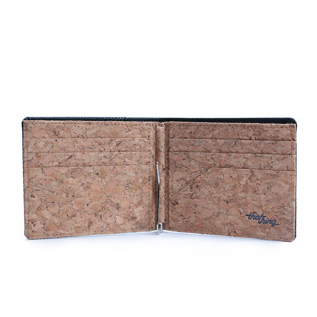 Black & Cork Money Clip Men's Wallet