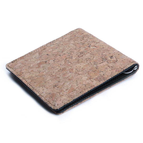 Cork & Black Money Clip Men's Wallet