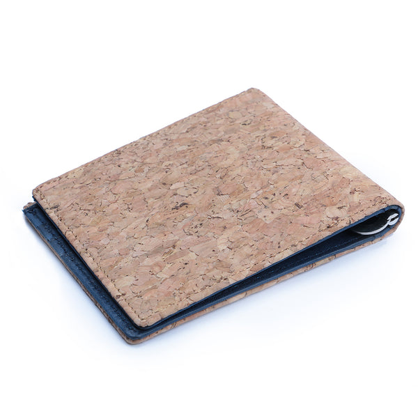 Cork & Blue Money Clip Men's Wallet
