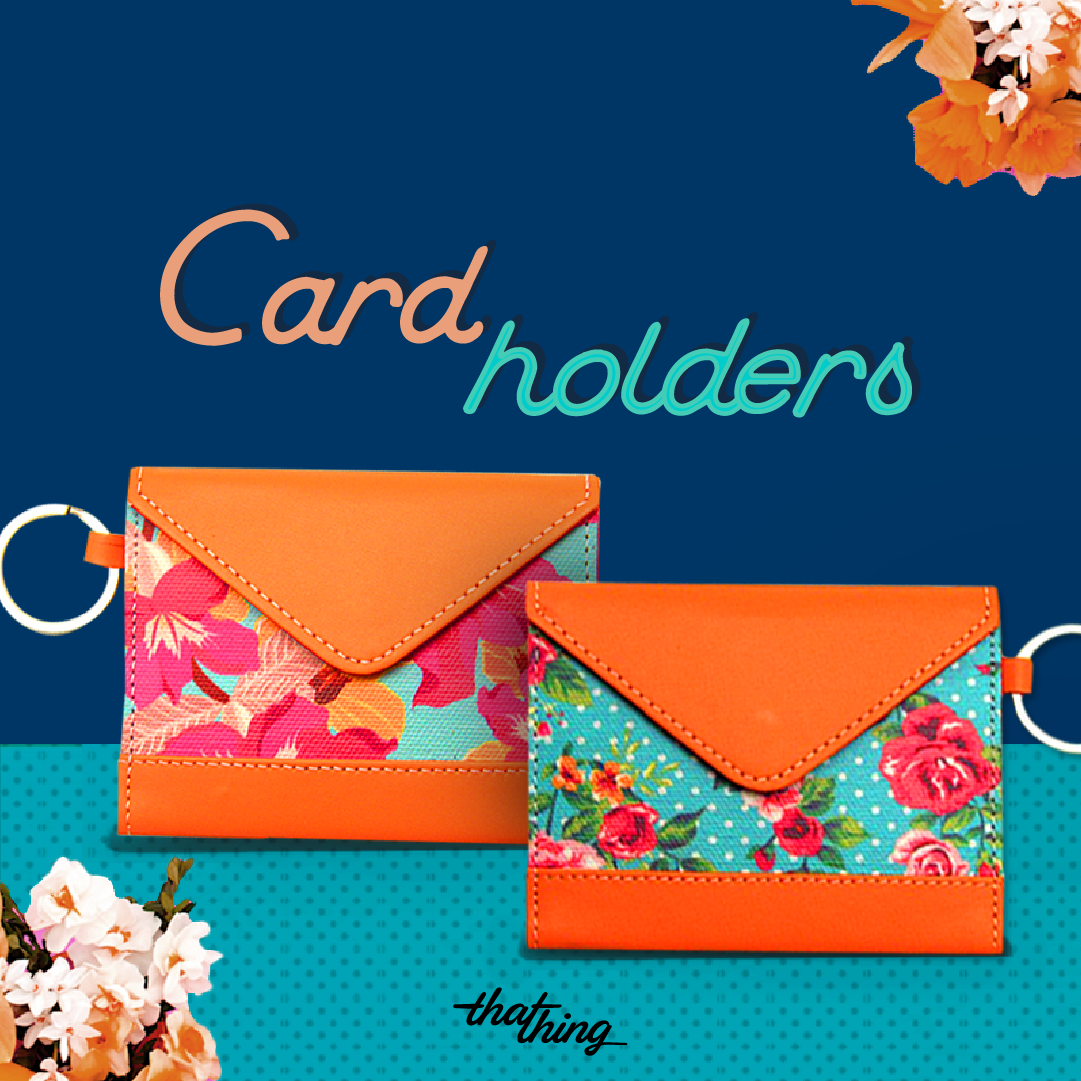 Dots & Flowers Card Holder