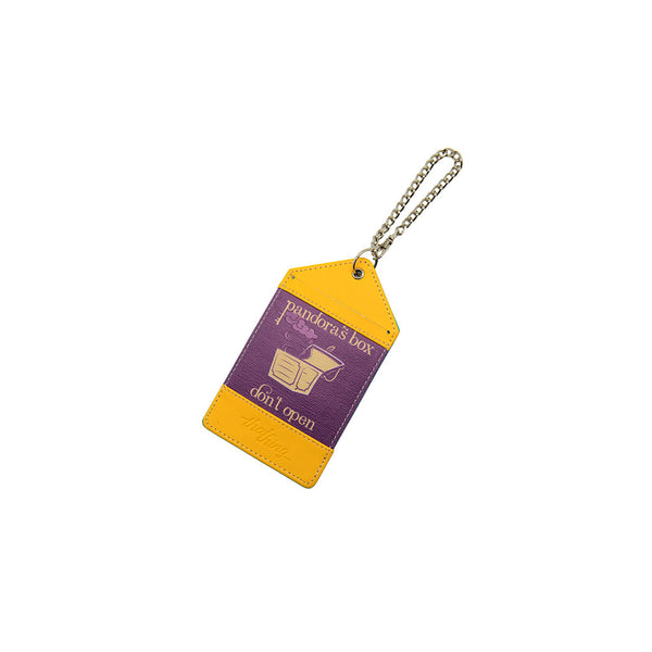 Yellow Violet Luggage Tag Bag Tag Pandora's Box Thathing_Chain Closed