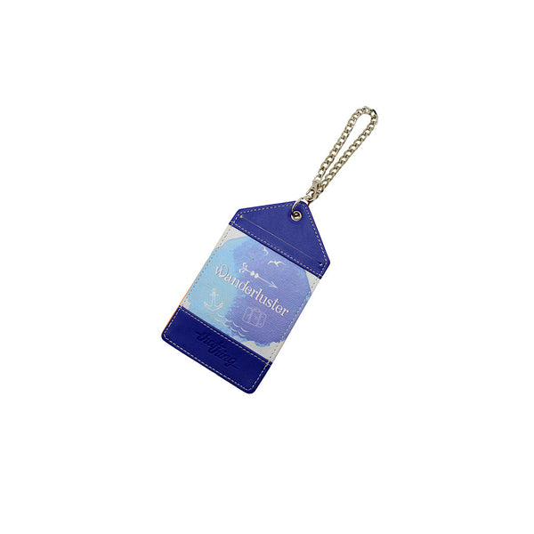 Purple Blue Luggage Tag Bag Tag Wanderluster Thathing_Chain Closed