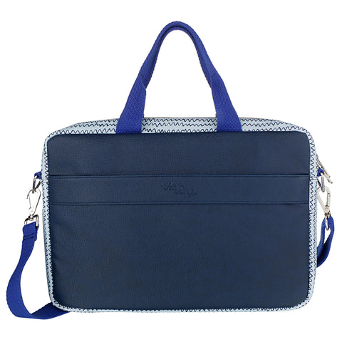 Squiggly Blue Laptop Bag