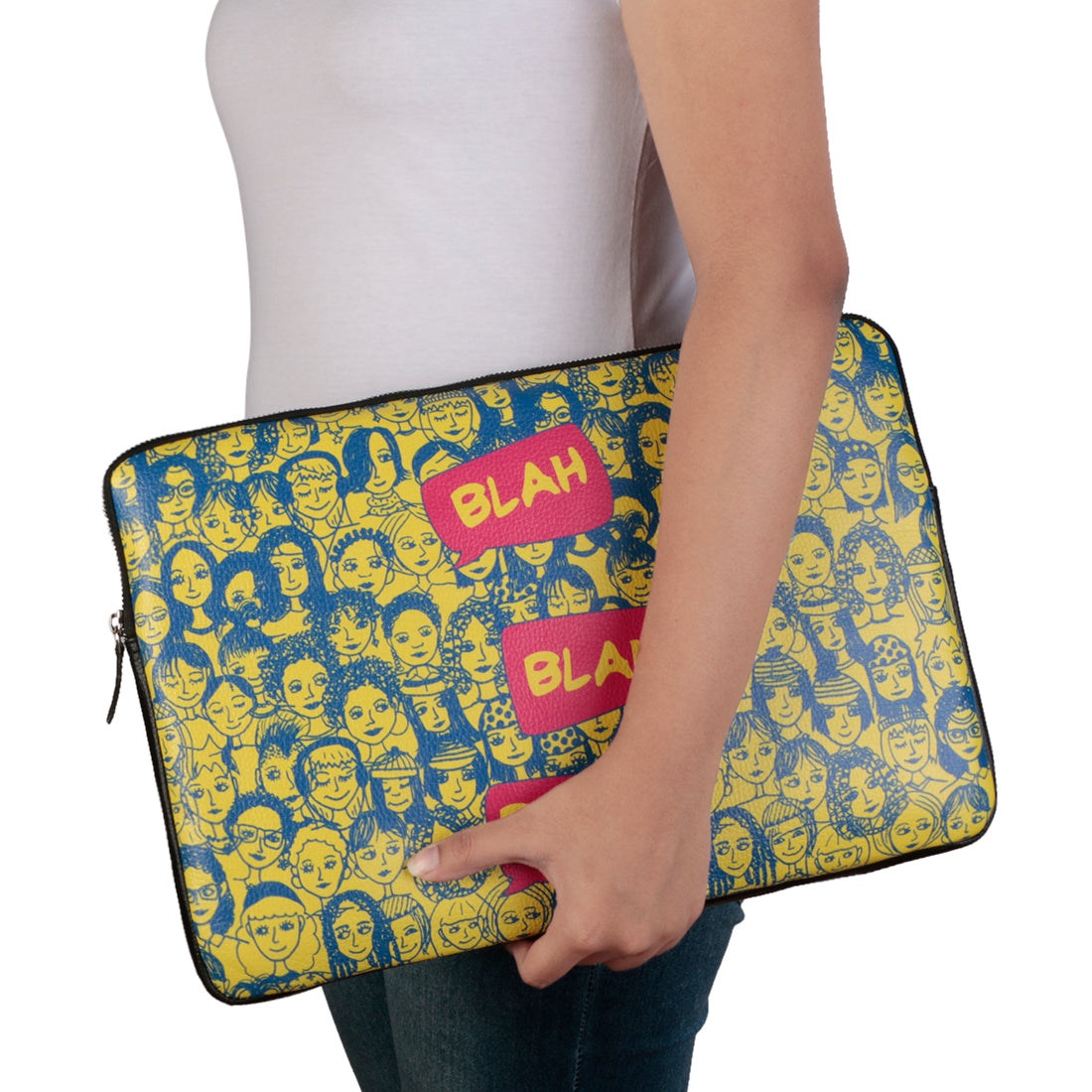 "Blah Blah Blue 15"" Laptop Sleeve"