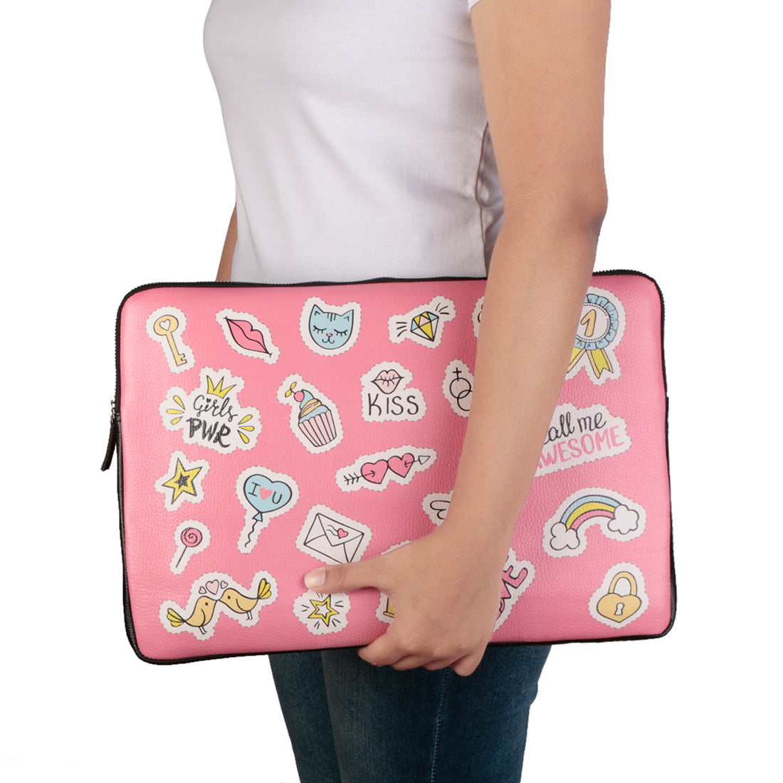 "Pink Sticker 15"" Laptop Sleeve"