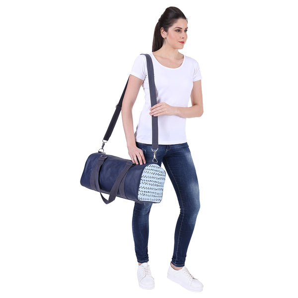 Squiggly Blue Duffel Bag