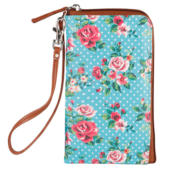 Dots & Flowers Phone Pouch