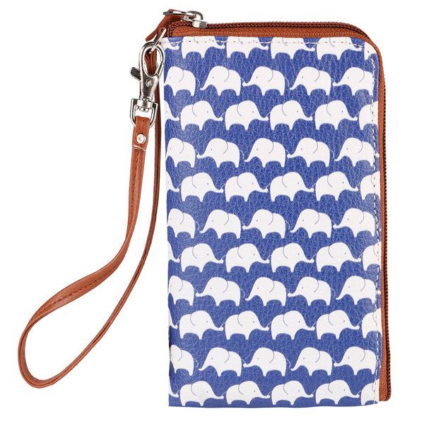 Blue Elephant Phone Pouch