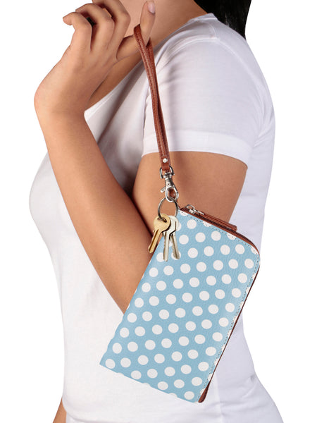 Blue Polka Phone Pouch