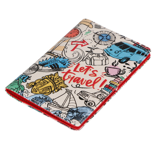 Thathing Bucket List Doodle Multicolour Passport Wallet