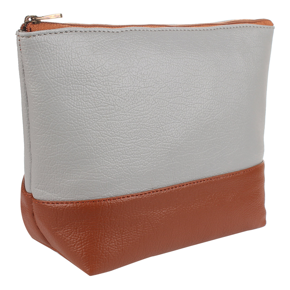 Brown & Grey Color Makeup Pouch