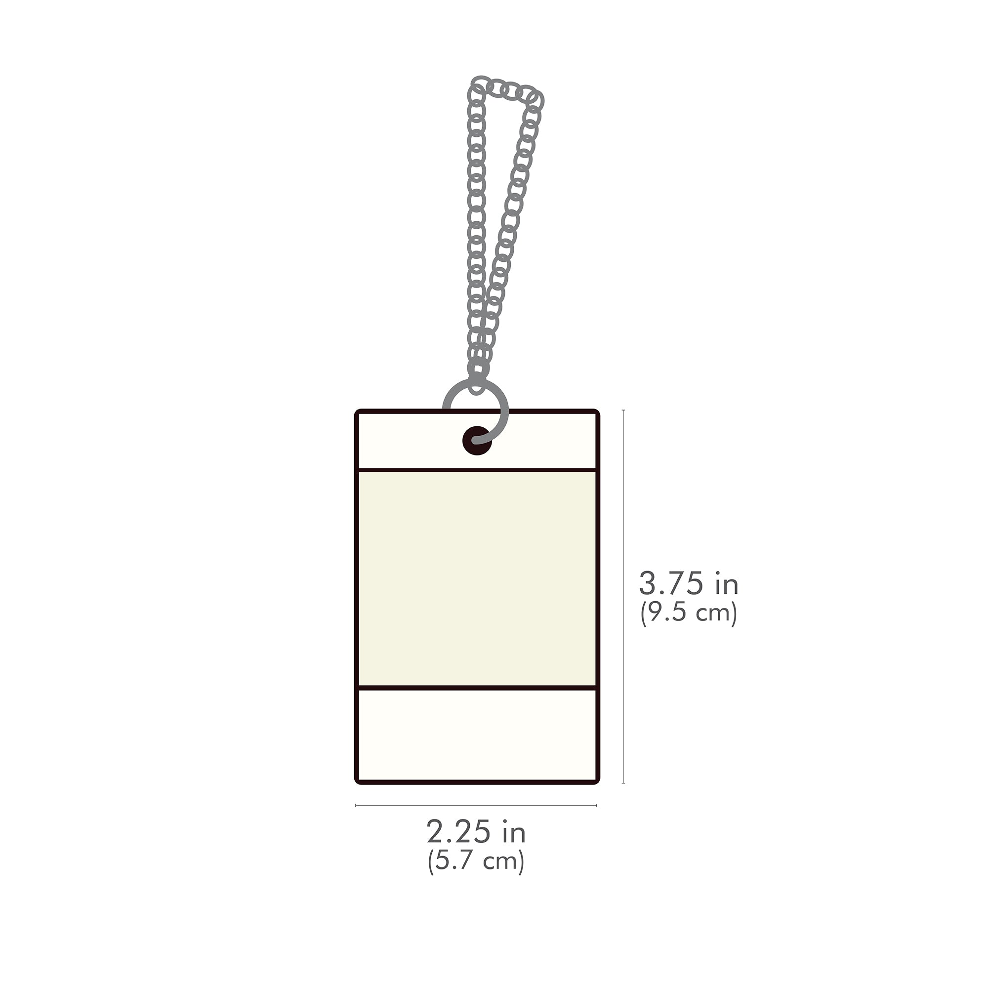 Brown Color Luggage Tag