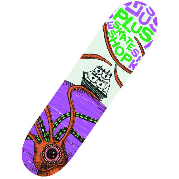 [PLUS SKATESHOP] Squid Attack! Skateboard Deck (スクィッドアタック!デッキ)