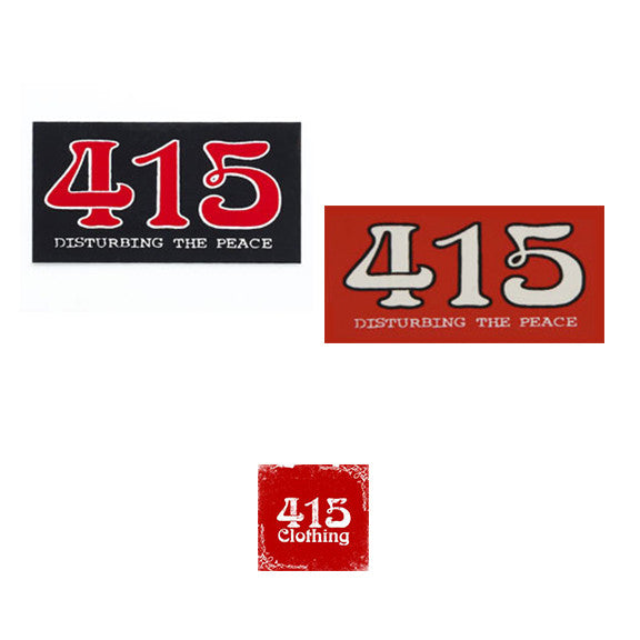 [415 CLOTHING]『415 Disturbing The Peace』Square Sticker ステッカー