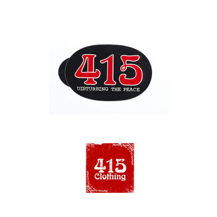 [415 CLOTHING]『415 Disturbing The Peace』Sticker オーバル ステッカー
