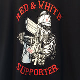 [415 CLOTHING] 415クロージング Red & White Big House Crew Tシャツ