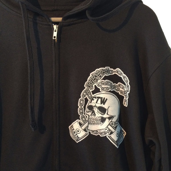 [Death Machine] デス マシーン Chain Lynched Zip Up Hoodie パーカー