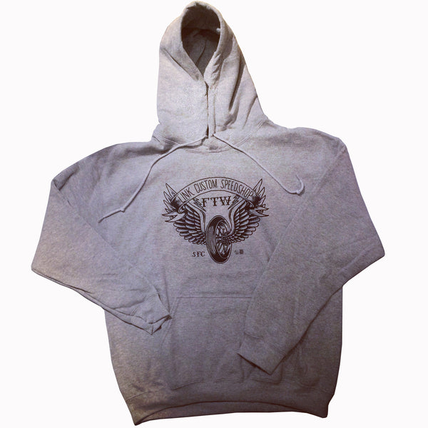 [LINK CUSTOM SPEEDSHOP] Winged Wheel Hoodie ウイングホイール パーカー