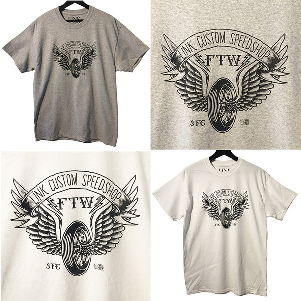 [LINK CUSTOM SPEEDSHOP] Winged Wheel T-shirt ウイングホイール Tシャツ