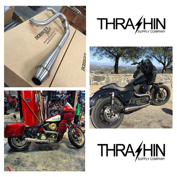 [Thrashin Supply Co.] TSC Dyna/FXR Stainless 2in1 Exhaust (取り寄せ品)