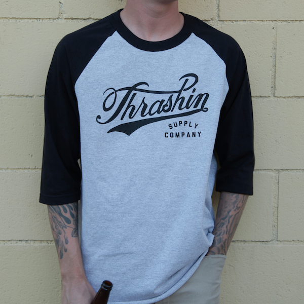 [Thrashin Supply Co.] 3/4 Baseball Tee ベースボール 3/4袖 Tシャツ