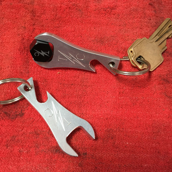 [Thrashin Supply Co.] Bottle Opener/9/16 Seat Screw Tool/Key Chain 黒orシルバー