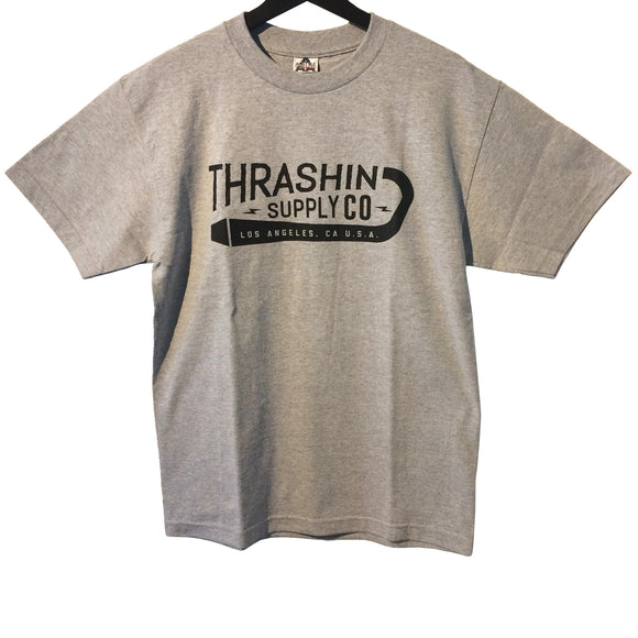 [Thrashin Supply Co.] Exhaust Tee Grey エギゾーストTシャツ グレー